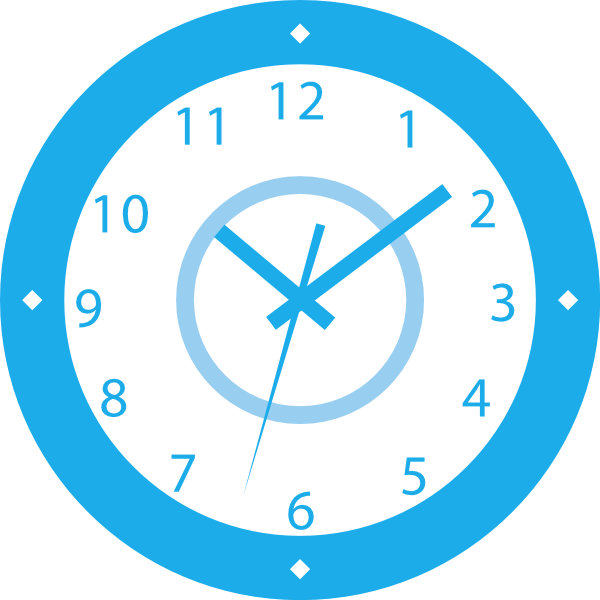 First minute sign clip. Clipart clock blue