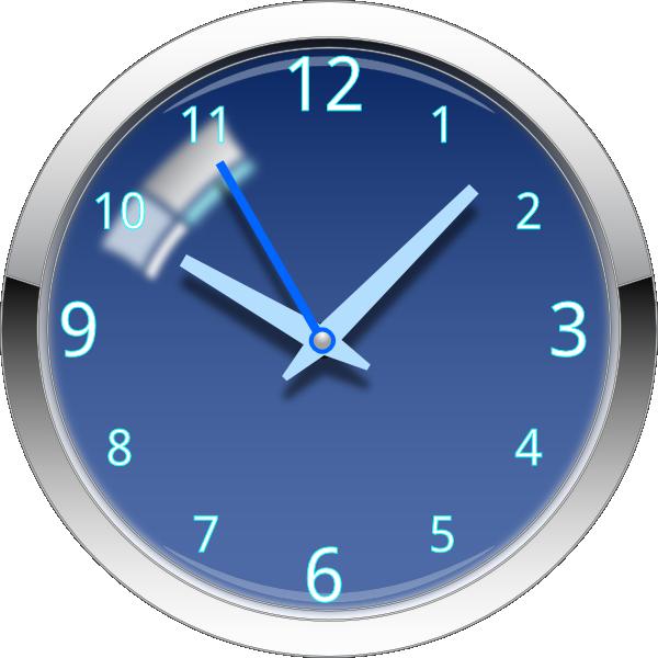 Glossy clip art at. Clock clipart blue