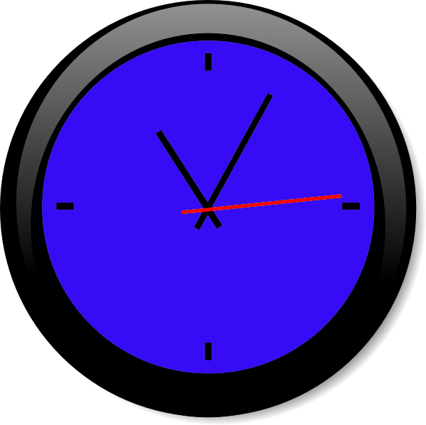 Clock clipart blue. A free images at