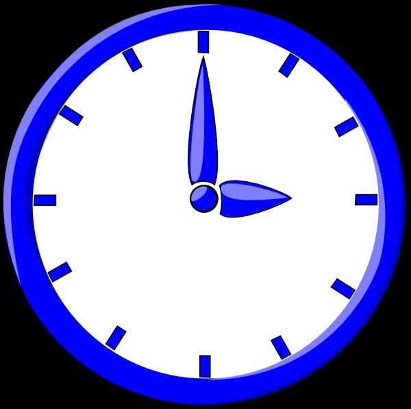 Clip art at clker. Clock clipart blue