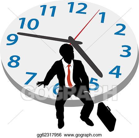 Clock clipart patience. Vector art business man