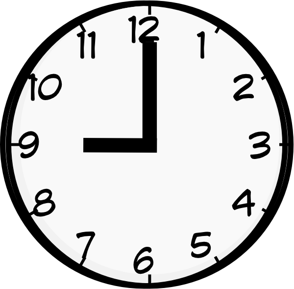 Tired clipart clock.  o quelle heure