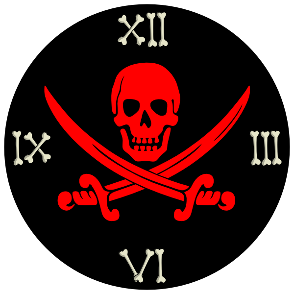 Clipart clock character. Pirate clip art at
