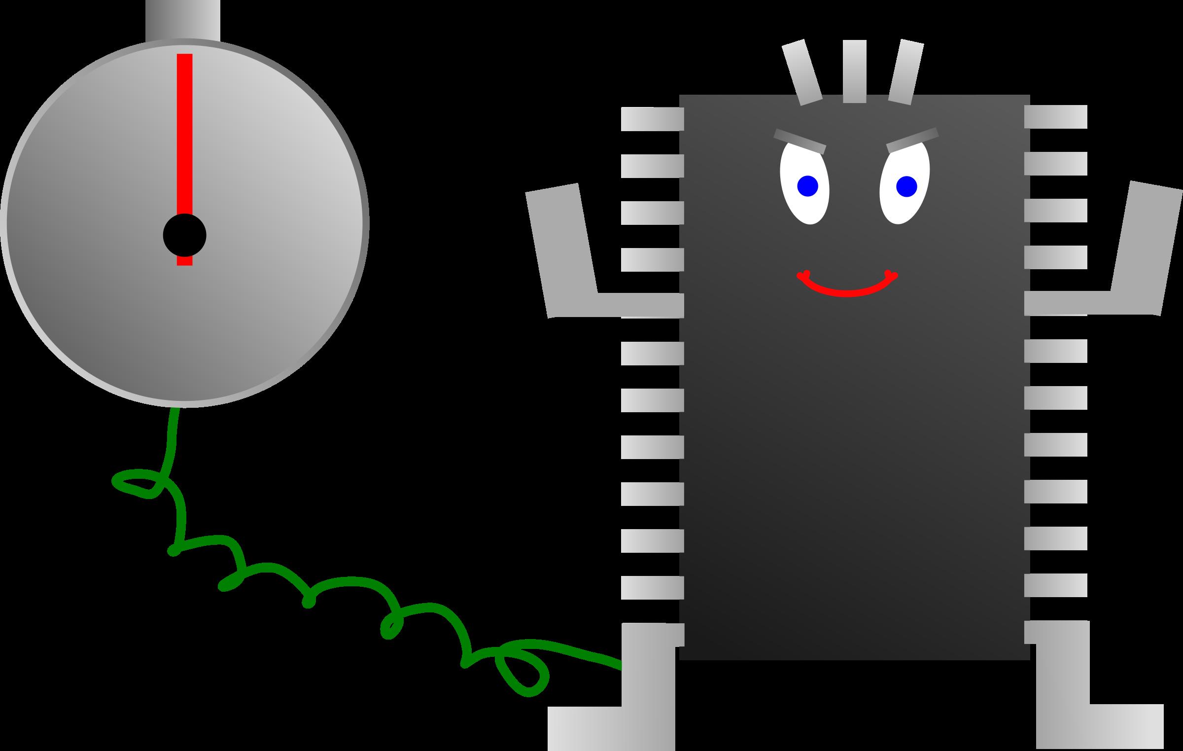 Processor big image png. Clipart clock character