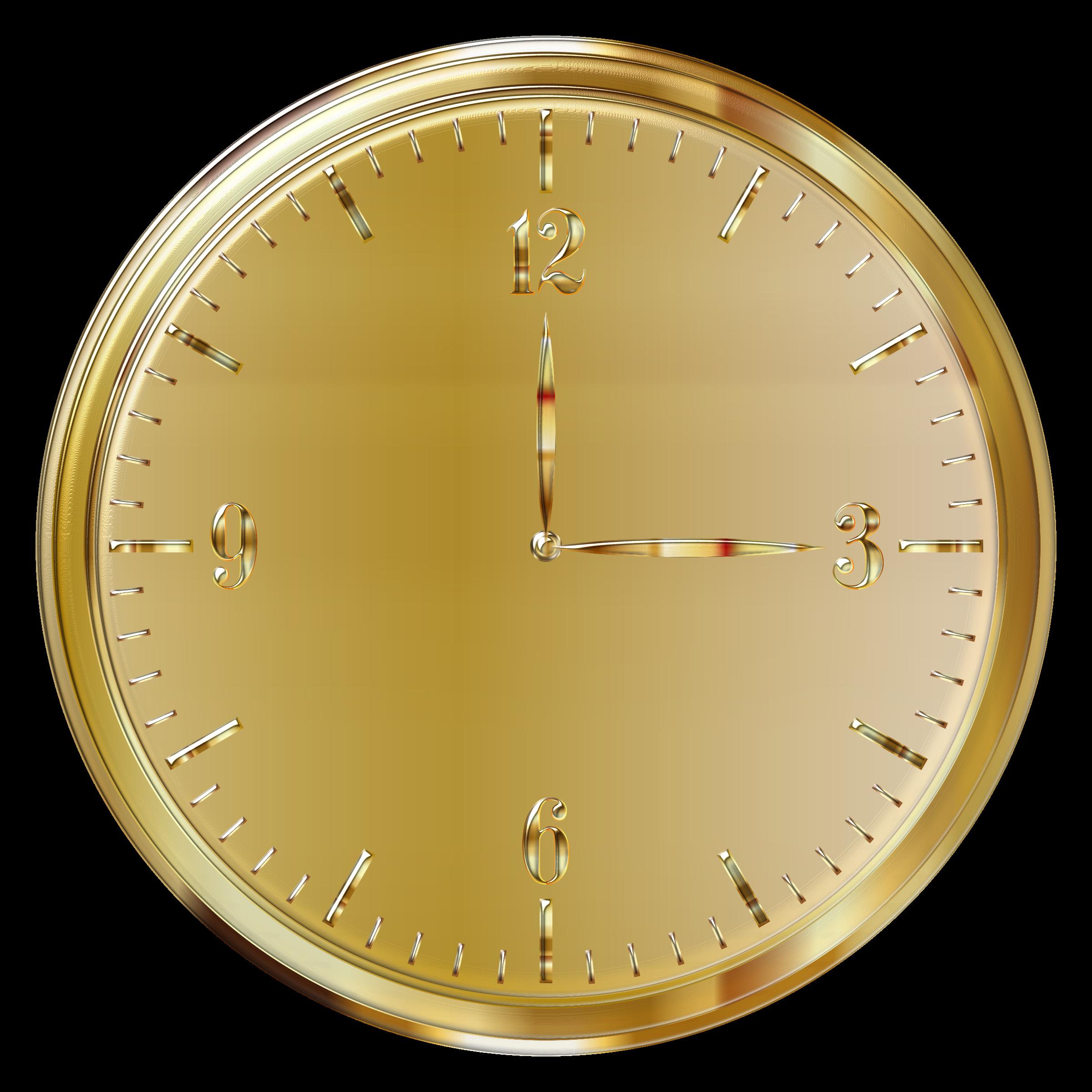 Gold clock enhanced big. Clocks clipart christmas