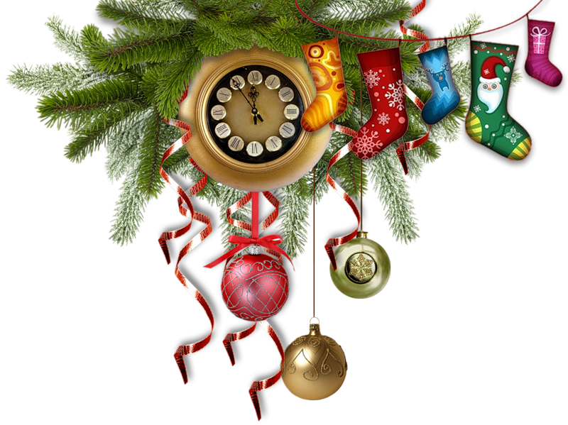 Dreamland. Clocks clipart christmas