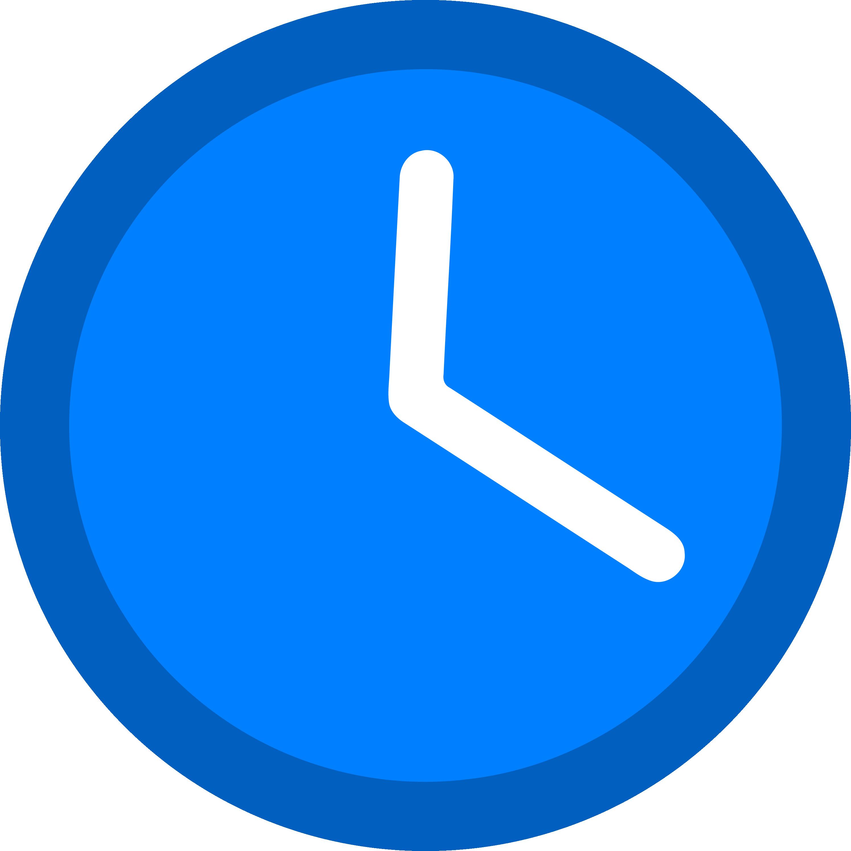 Clipart clock circle. Hd md dodger blue
