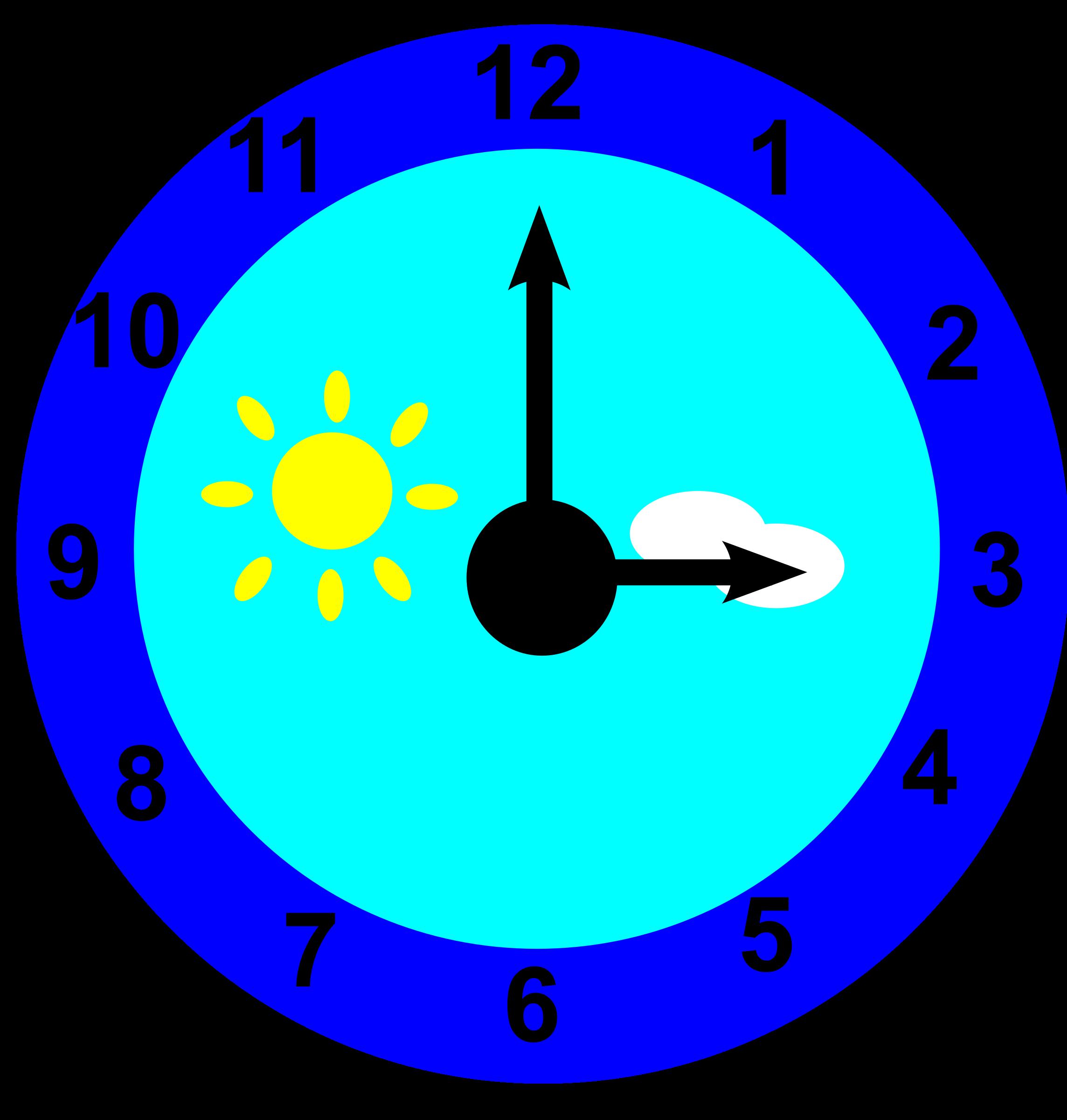 Clipart clock circle. Is pointing at three