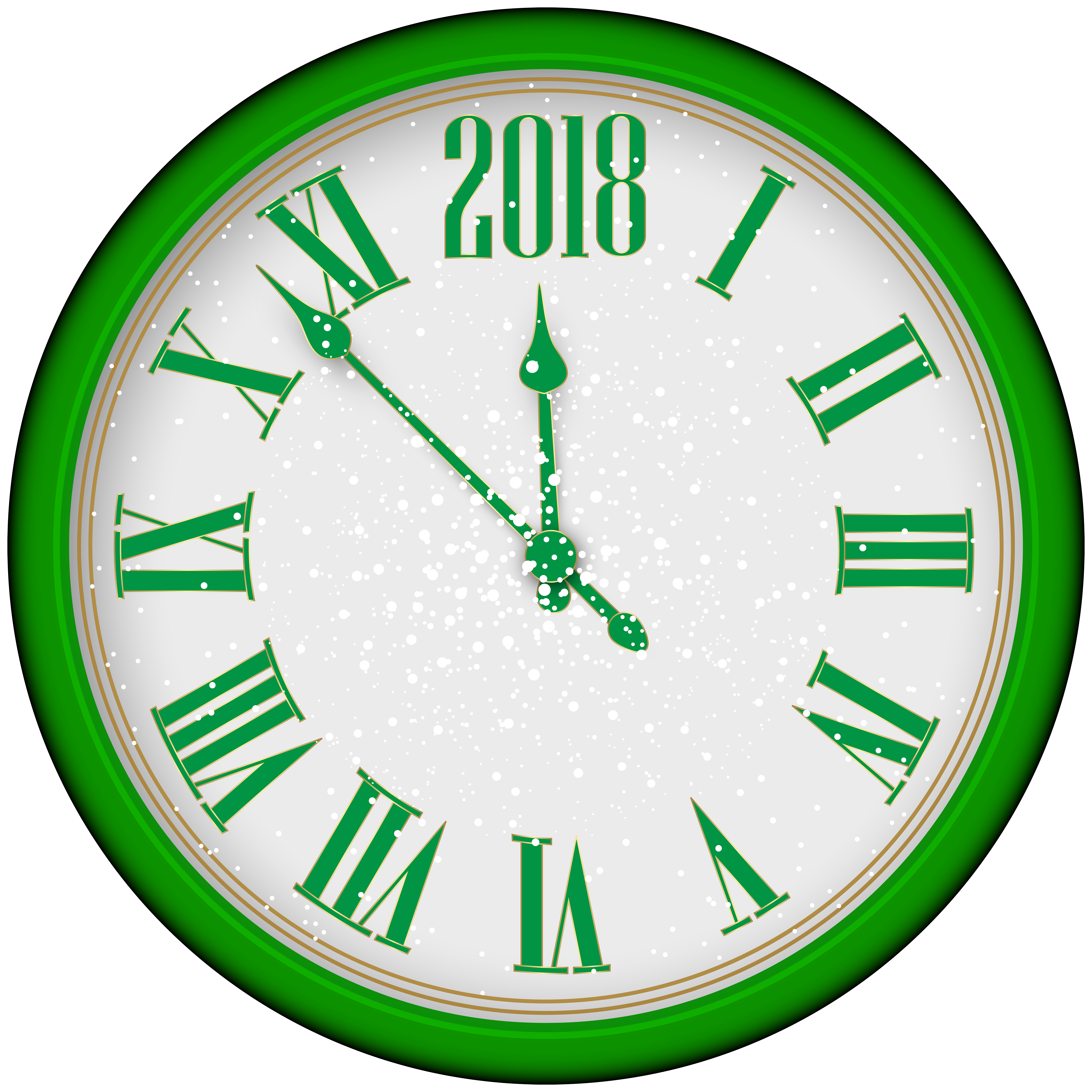 Year clip art green. Clock clipart new year's eve