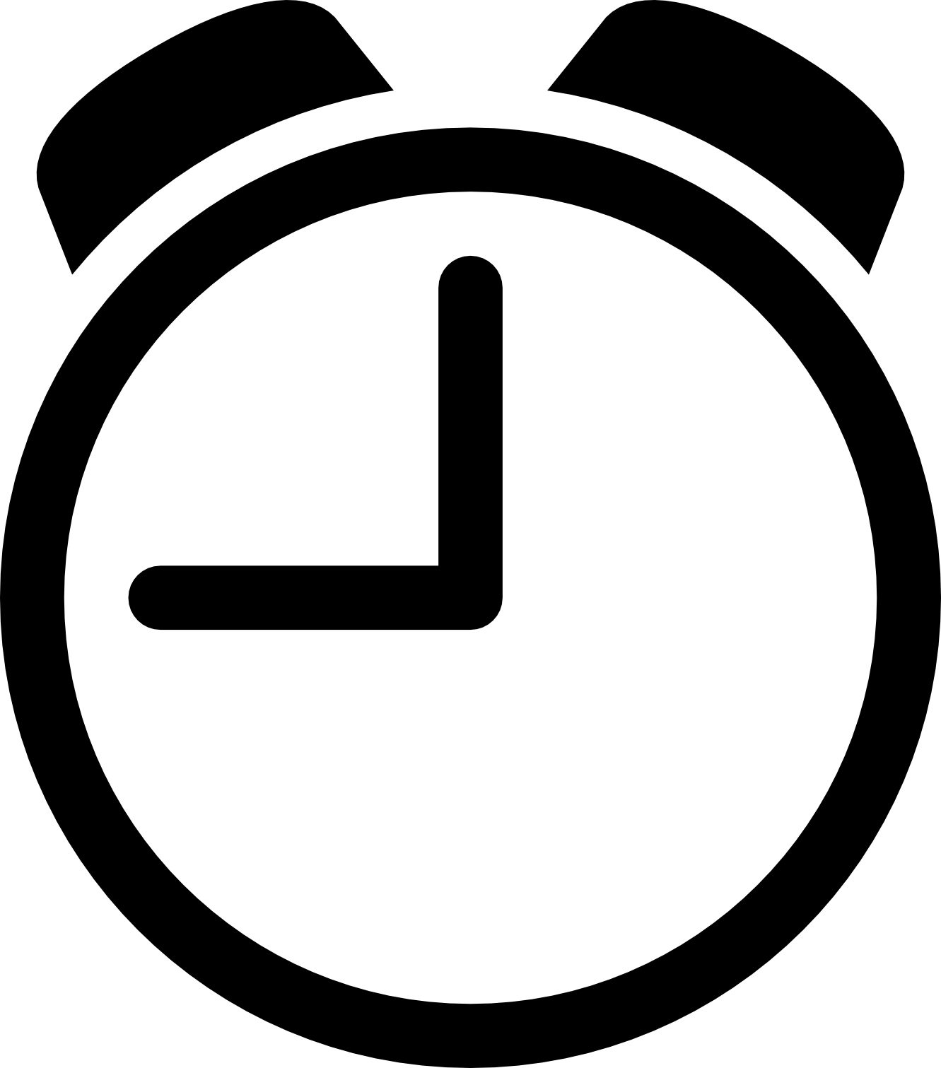 Clock clipart black and white. Download images free icons