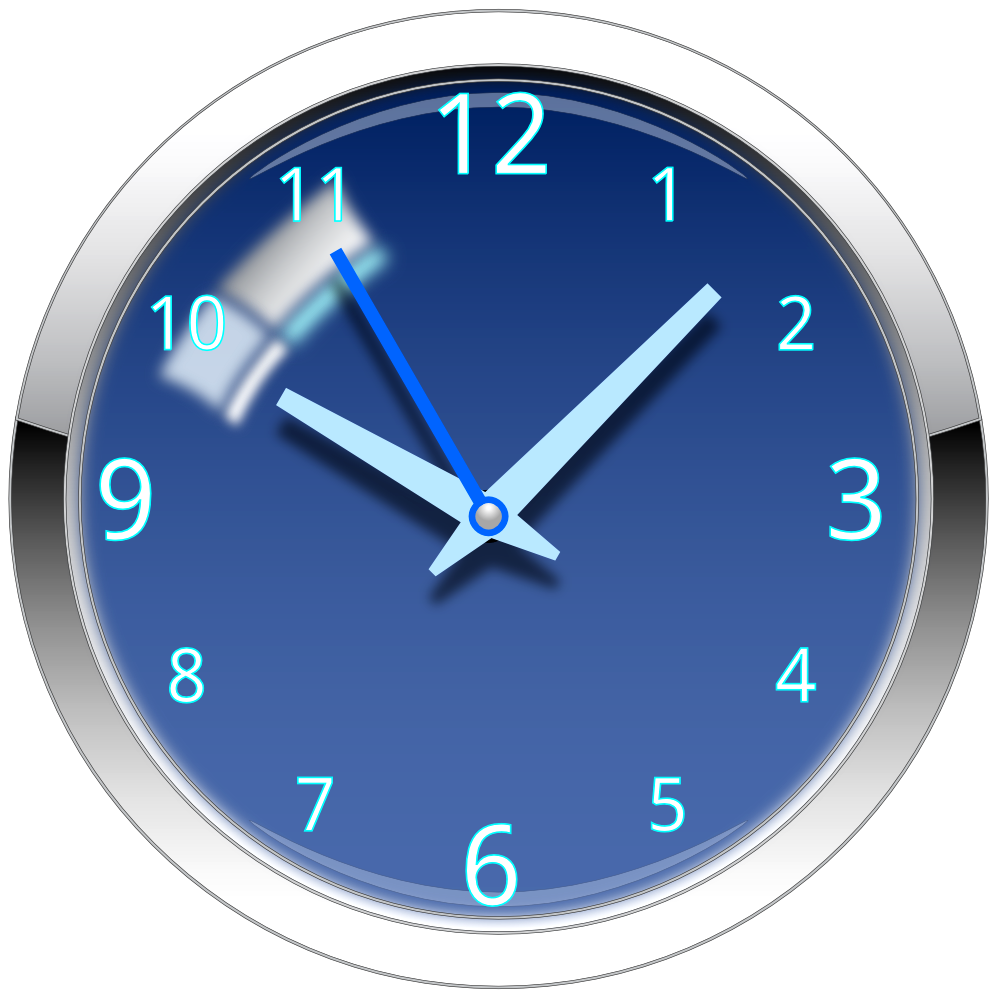Blue png with . Clock clipart transparent background