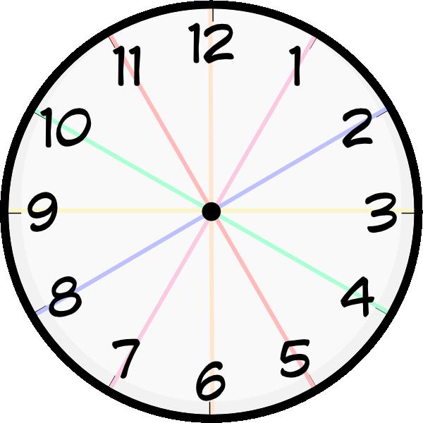 Clock devider clip art. Clocks clipart colored