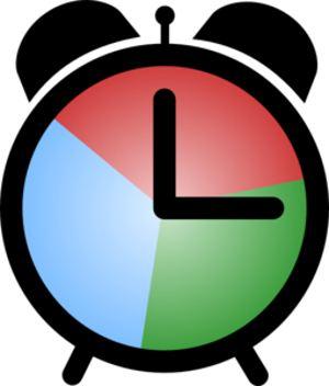 Clocks clipart colored. Clock clip art multi