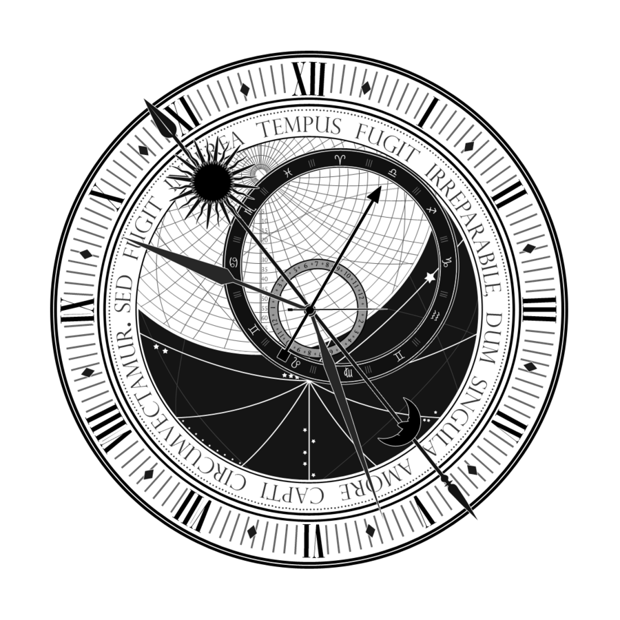Steampunk clipart old compass. Astrological clock google search