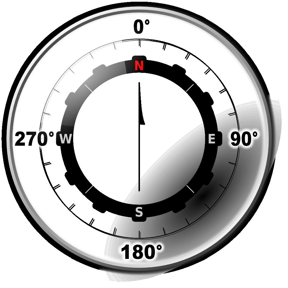 Clipart clock compass. Onlinelabels clip art modern