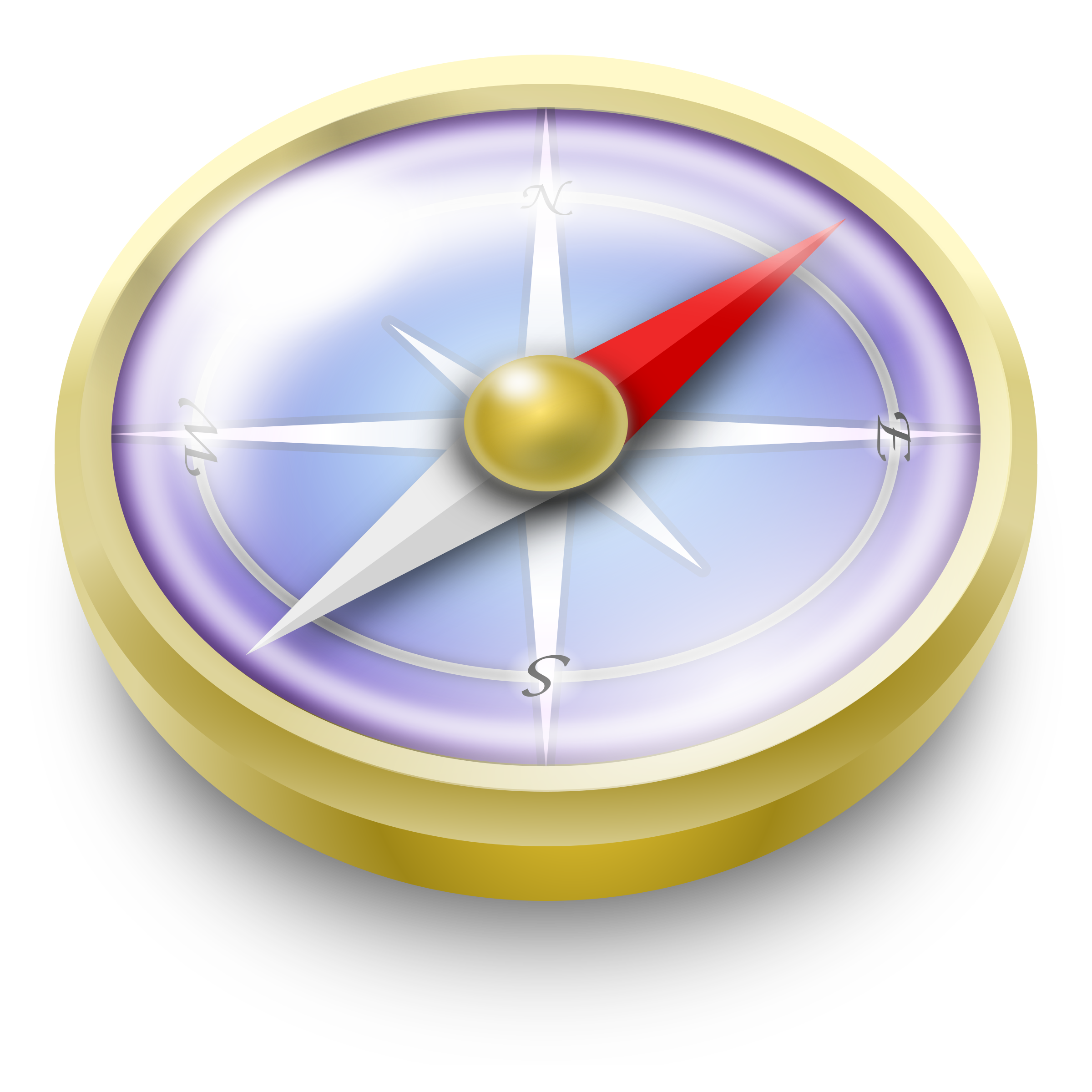 . Clock clipart compass