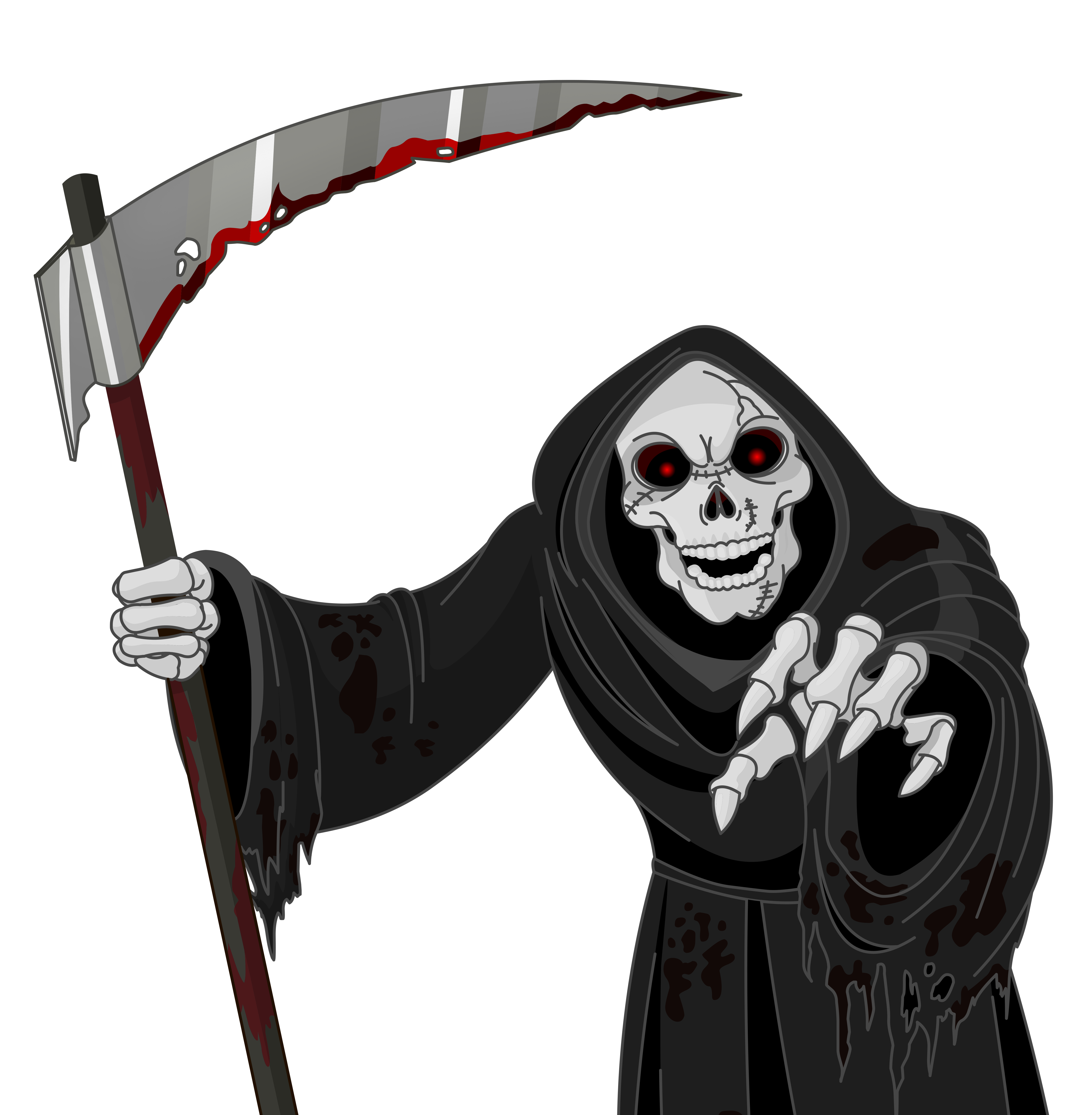 Scary grim reaper png. Clipart halloween spooky