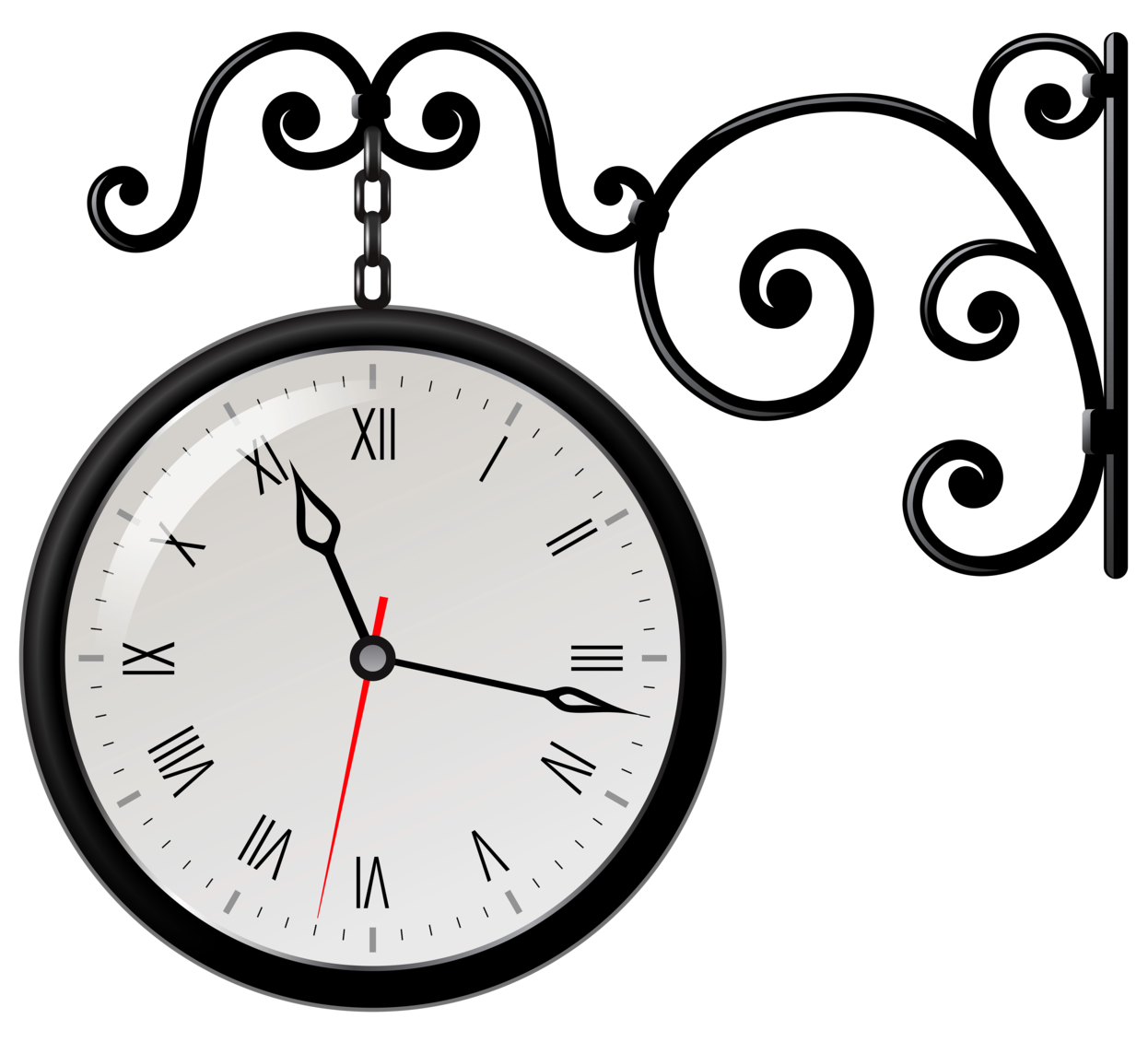 Street clock png clip. See clipart timer