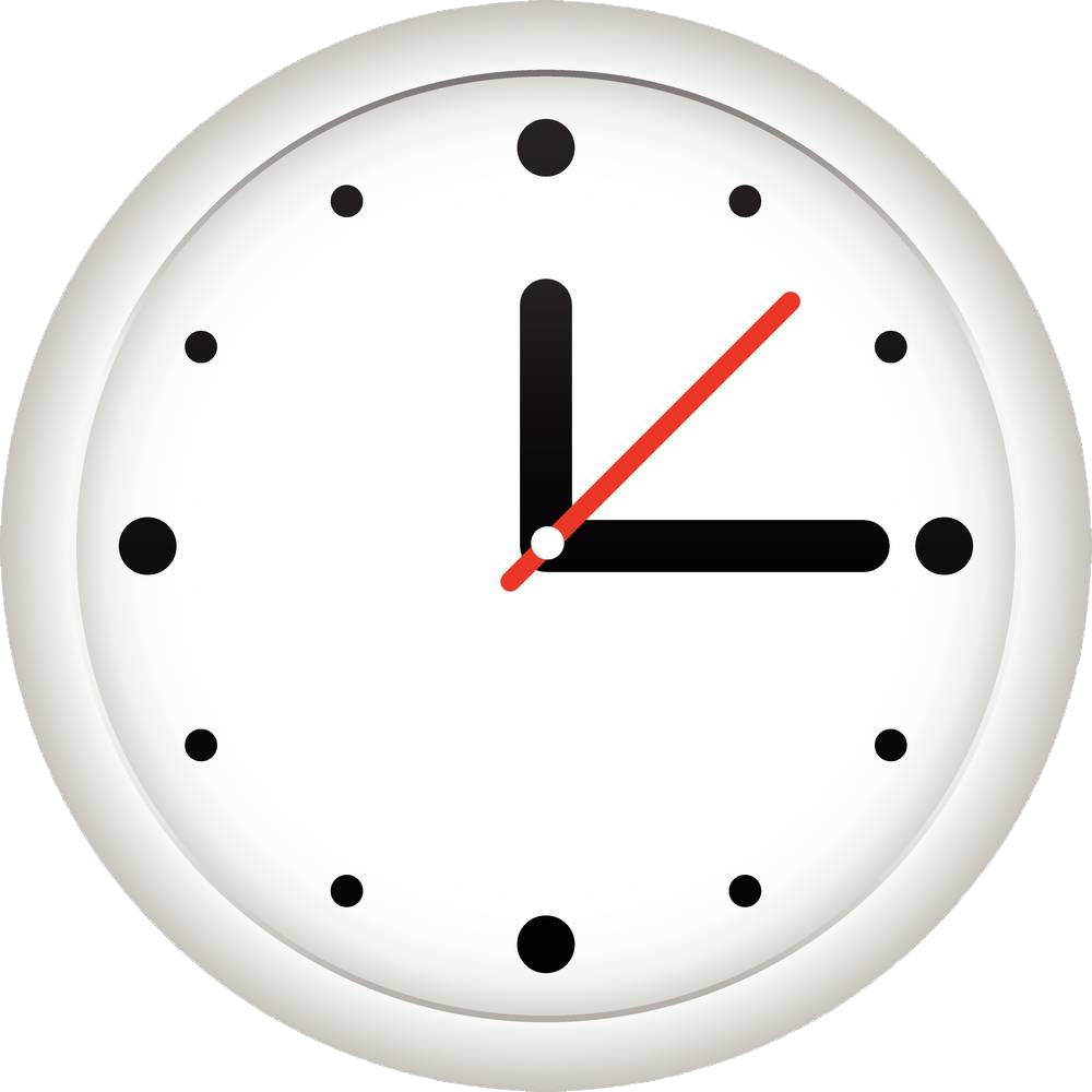 Clock face alarm clip. Furniture clipart home accessory