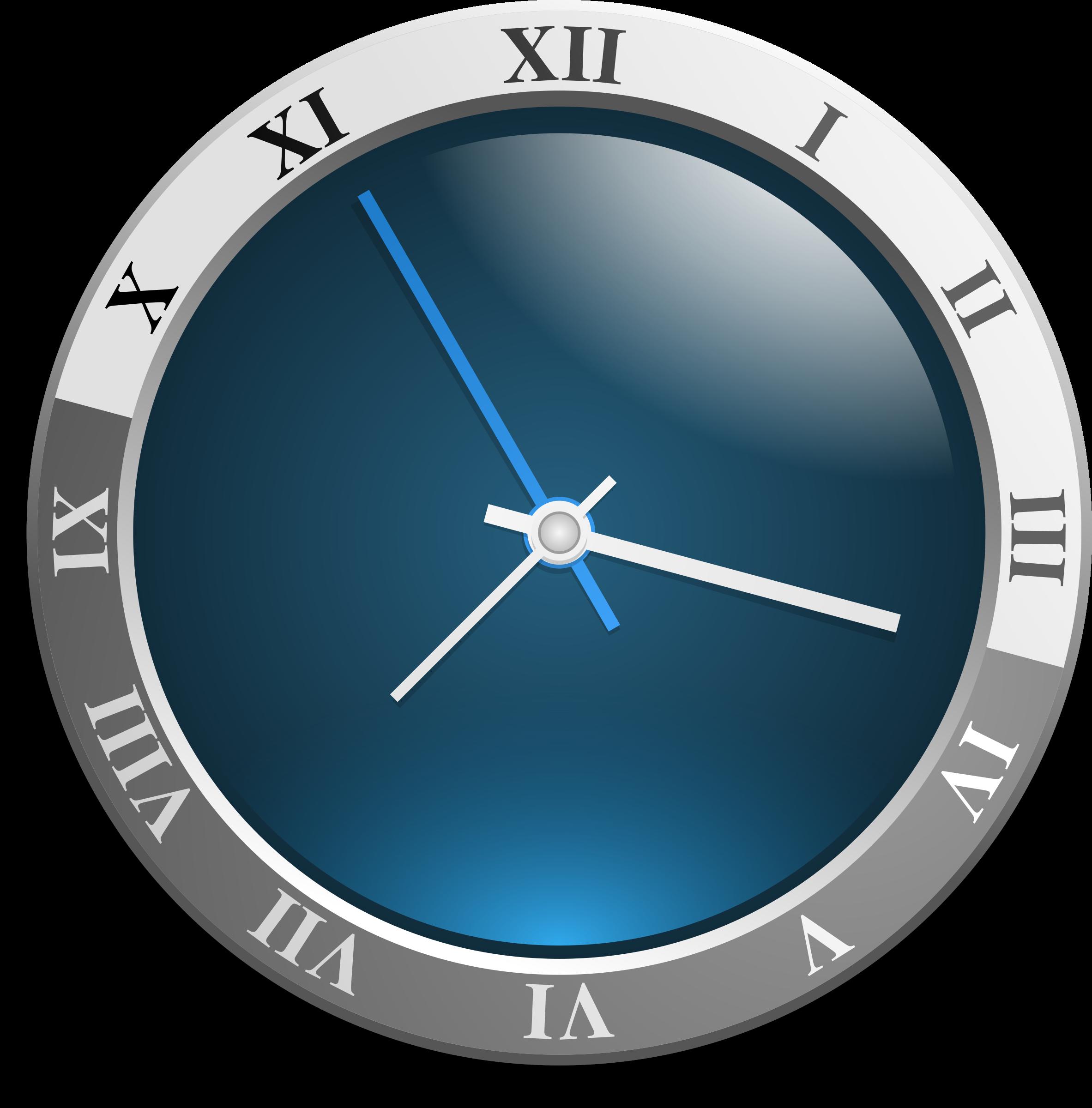 . Clock clipart blue