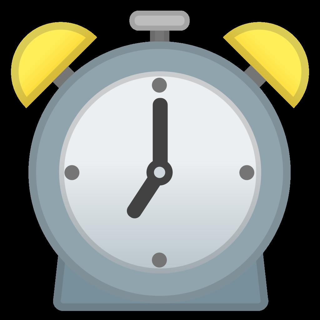 Stopwatch clipart emoji. Alarm clock icon noto