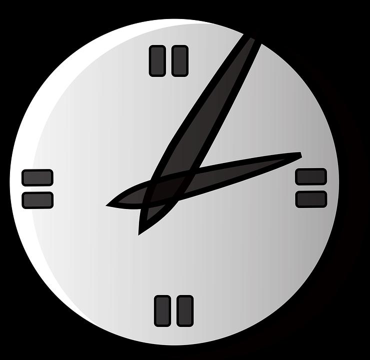 Face shop of library. Clock clipart vector