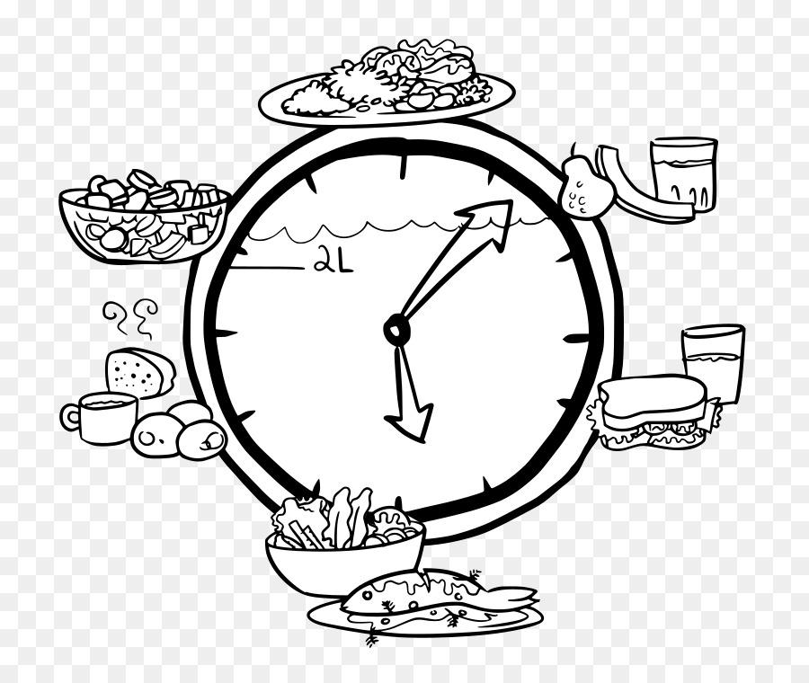 Clocks clipart food. Circle time clock drawing