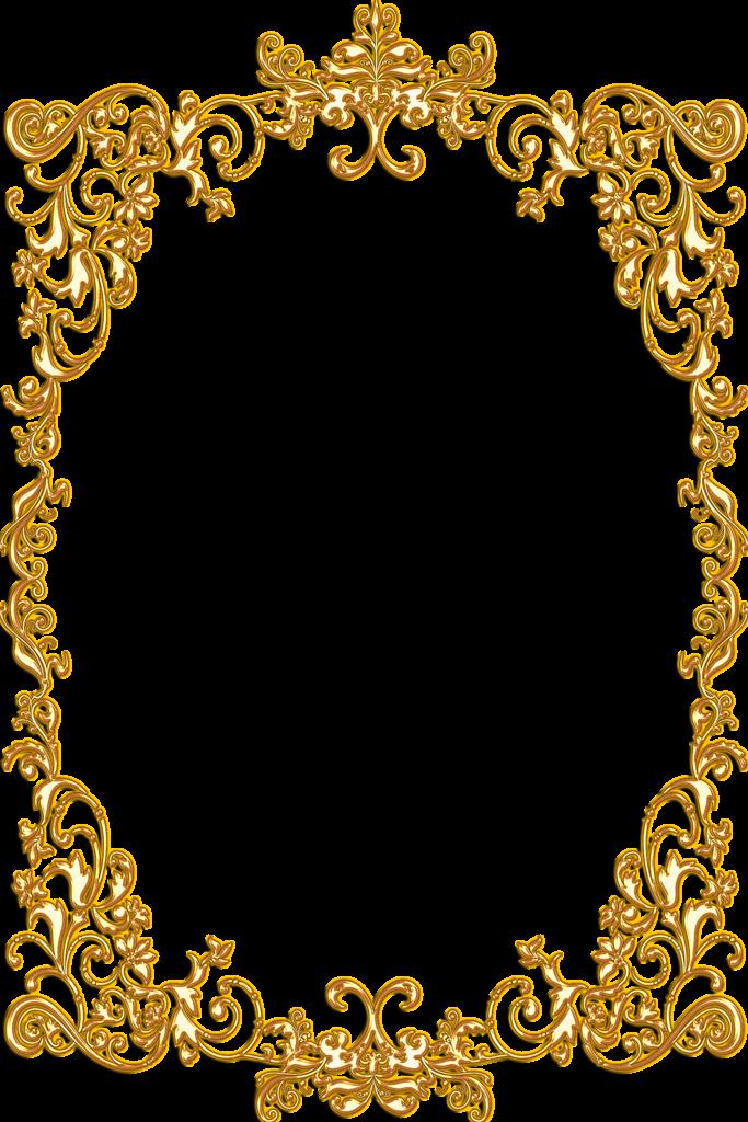 Gold clip art border. Clocks clipart frame