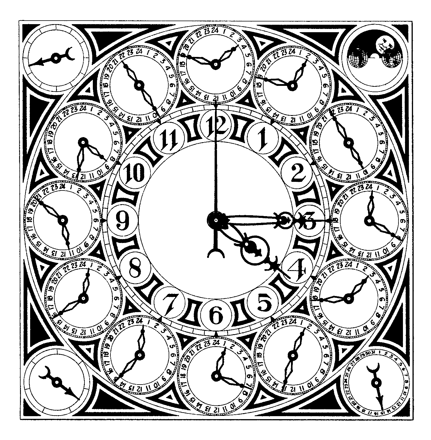 Steampunk clipart retro clock. Drawing at getdrawings com