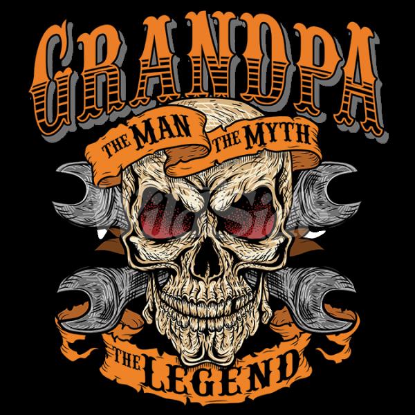 The man myth legend. Grandpa clipart clock