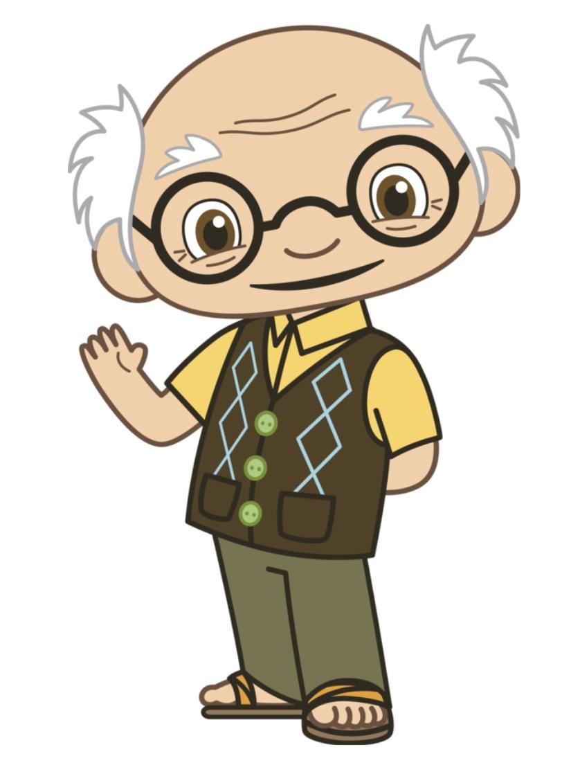 grandfather huge freebie. Name clipart character