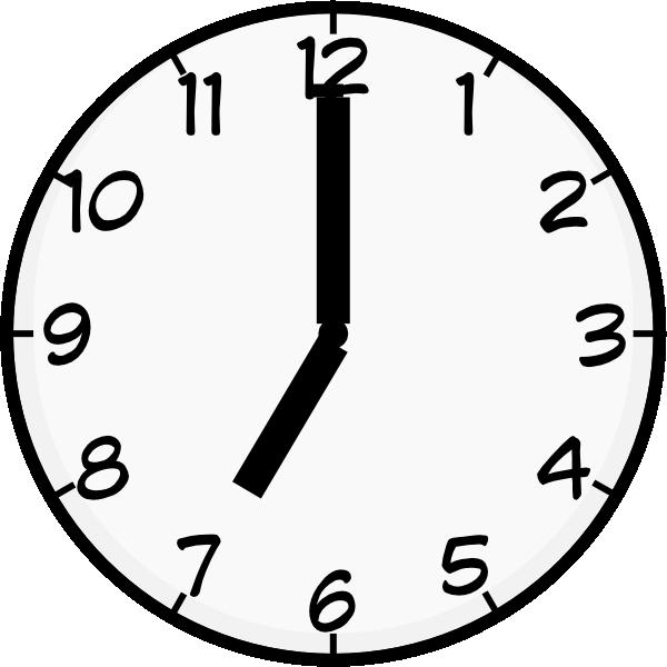 Clock clipart 7 o clock.  clip art at