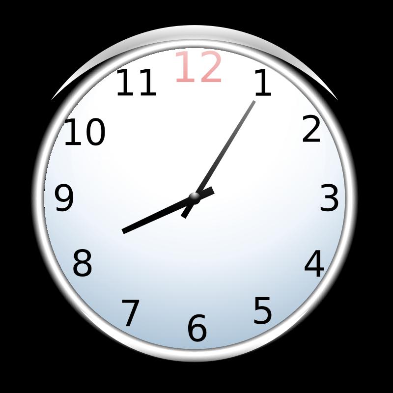 clipart clock half past