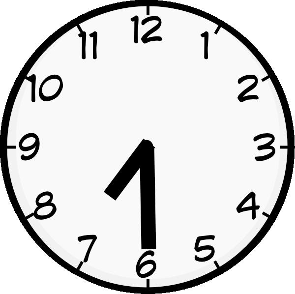 Clock clipart noon. Half past clip art