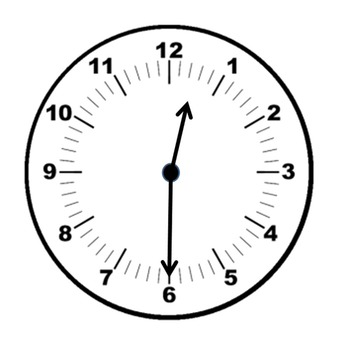 Clocks clipart half past. Clock the hour freebie