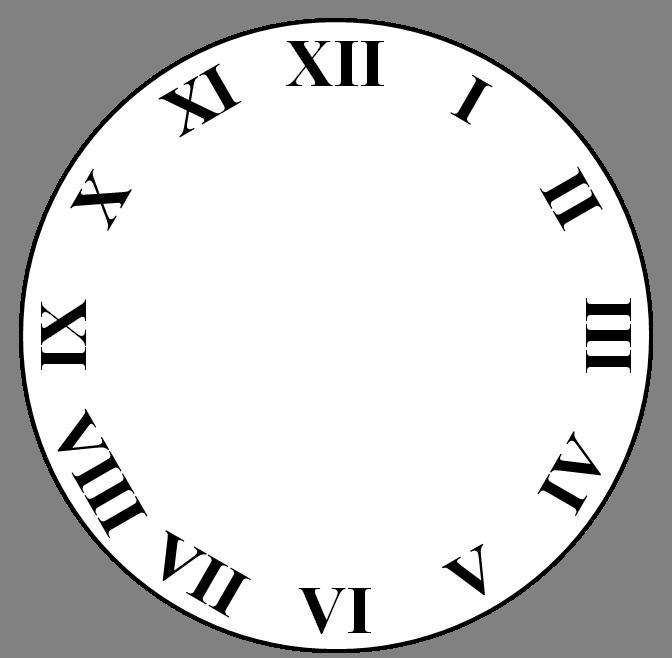 Clocks clipart 6 am. Art clock face template