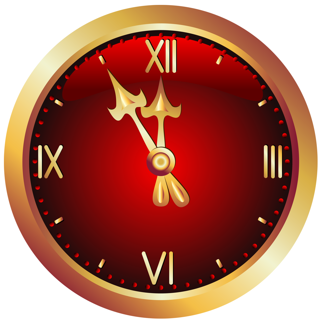 Clocks clipart christmas. Red clock png picture