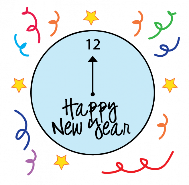 New year coloring pages. Criminal clipart happy