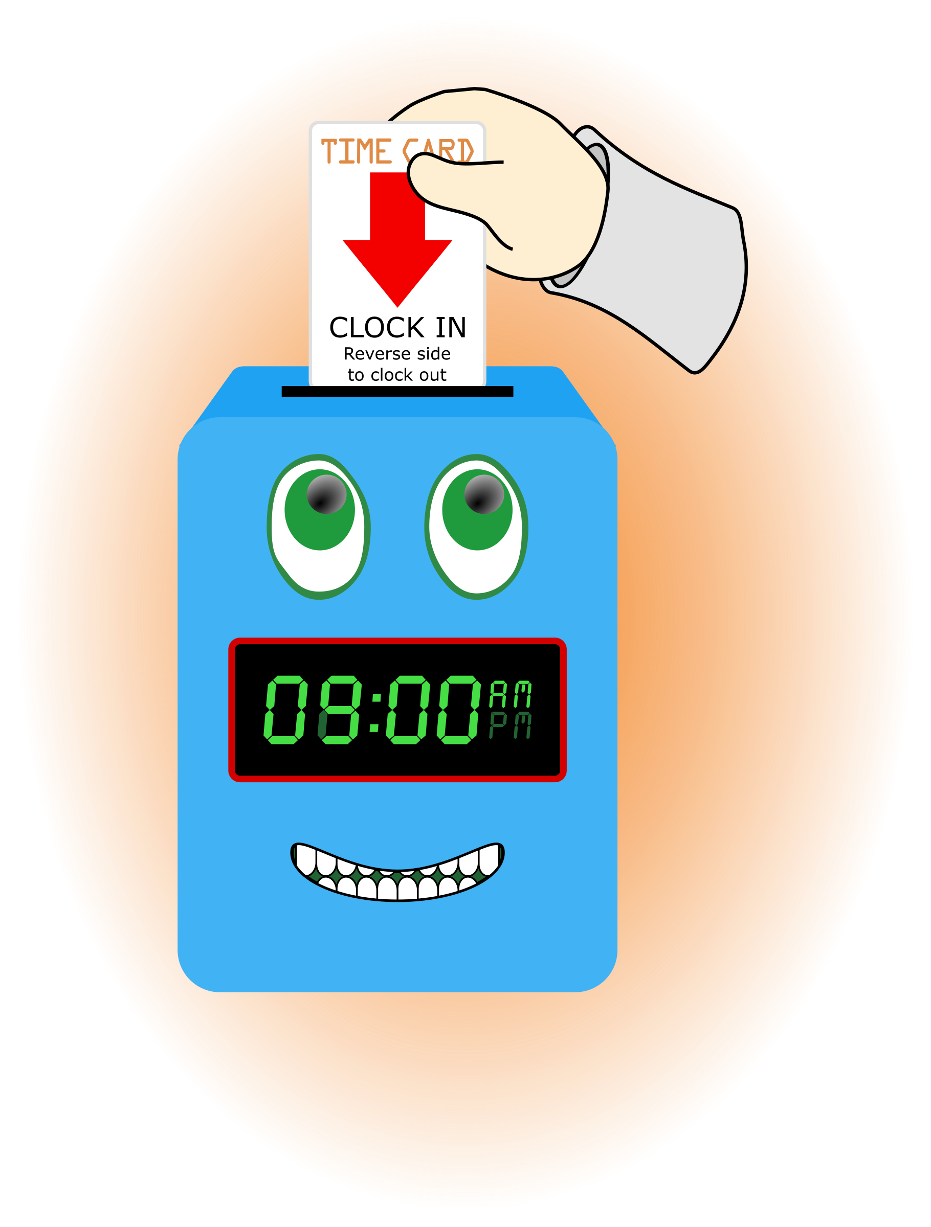 Time big image png. Clock clipart happy