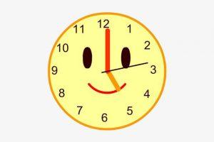 Clock clipart happy. Portal