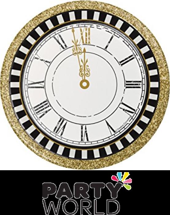 Midnight celebration clock paper. Clocks clipart retirement