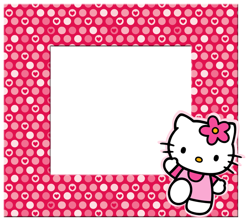 Hello kitty borders images. Newspaper clipart border