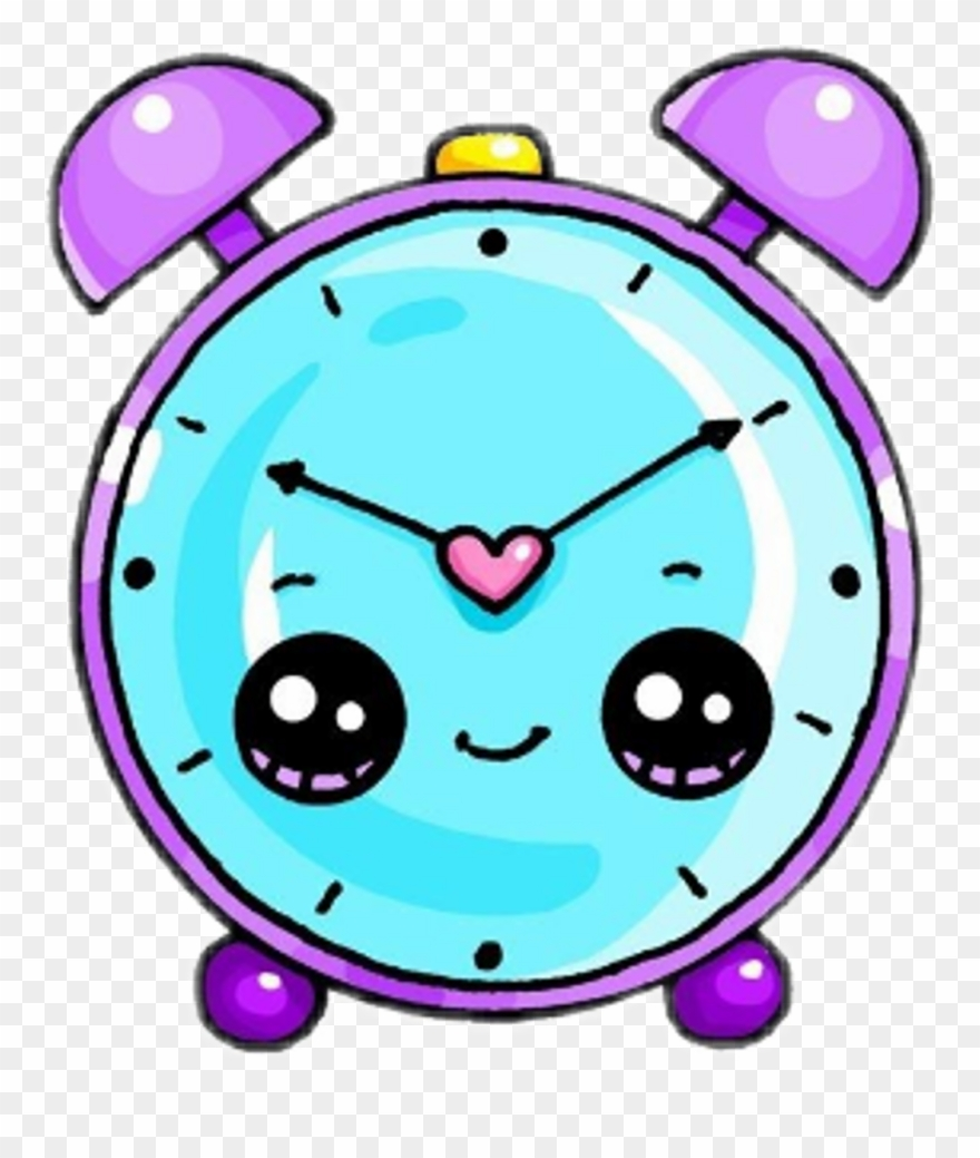 Freetoedit cute reloj watch. Clock clipart kawaii