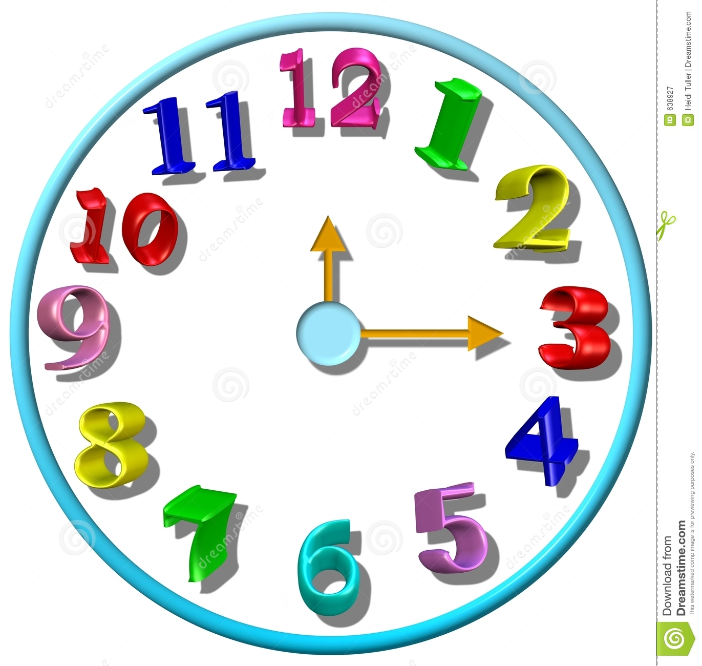 Images of a free. Clock clipart kindergarten