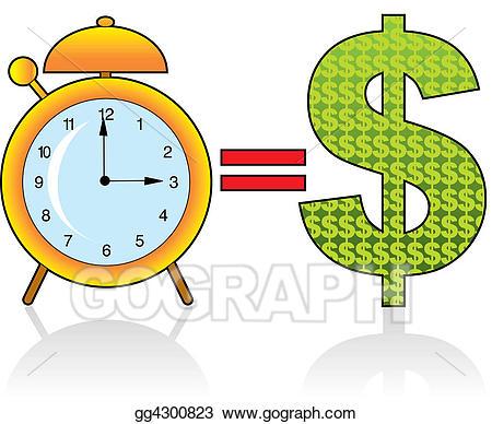 Stock illustration time is. Clocks clipart money