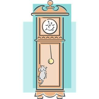 Hickory dickory dock the. Clocks clipart mouse