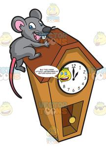 Clocks clipart mouse. A running up clock