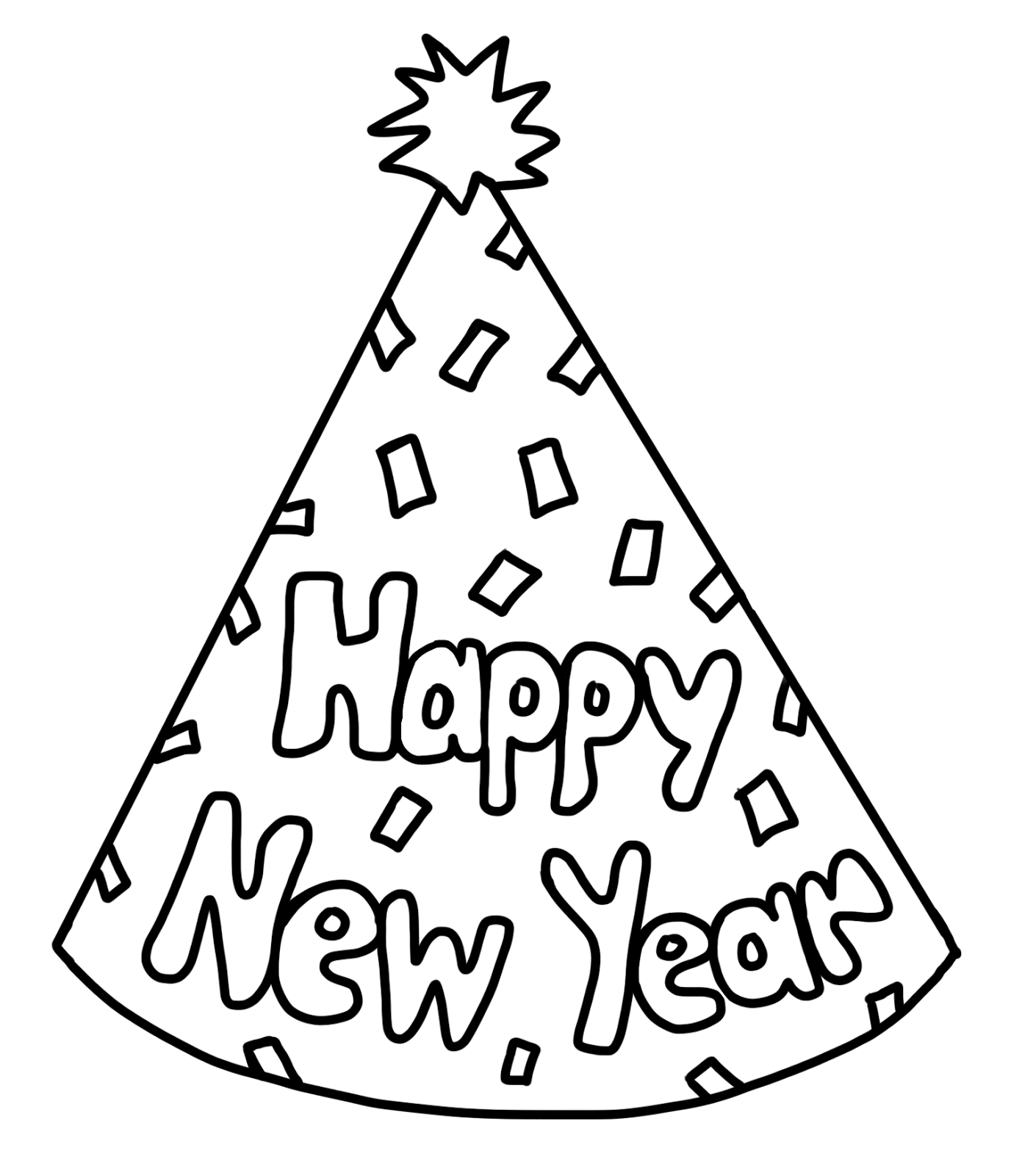 Year clip art merry. Clipart hat new year's