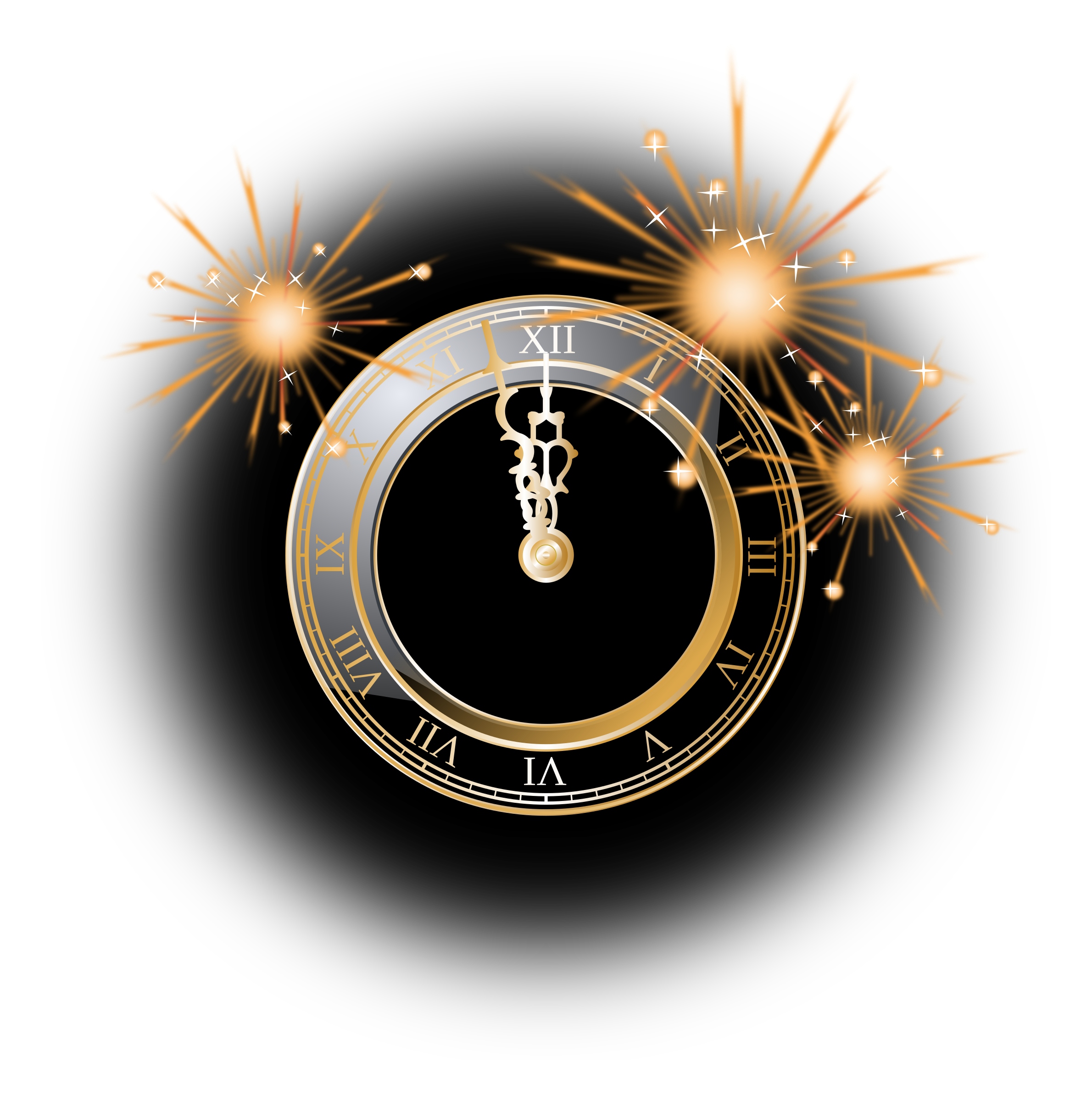 Clock big image png. Clocks clipart new year