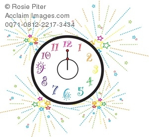 Royalty free illustration of. Clocks clipart new year